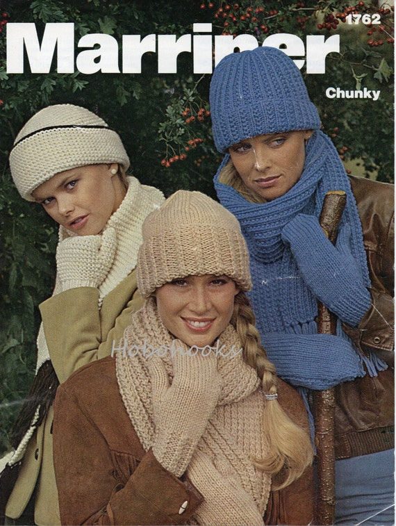 5d95f272576 womens chunky hats knitting pattern pdf download scarves and