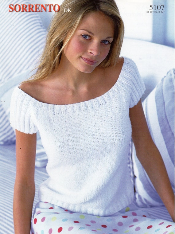 Womens Knitting Pattern Womens Top Short Sleeve Sweater Summer Etsy