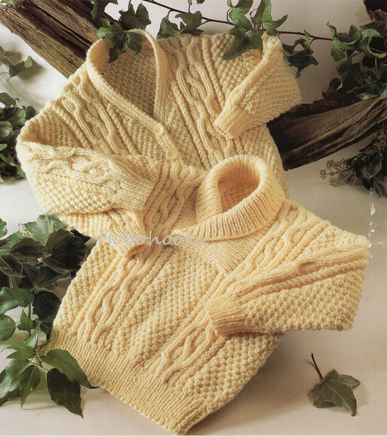 2c4c51c55 Baby toddler childrens aran sweater cable sweater shawl collar