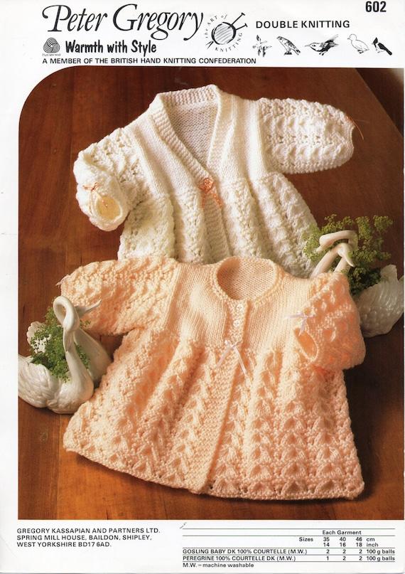 2ef2191b7 baby matinee jacket knitting pattern pdf matinee coat lacy