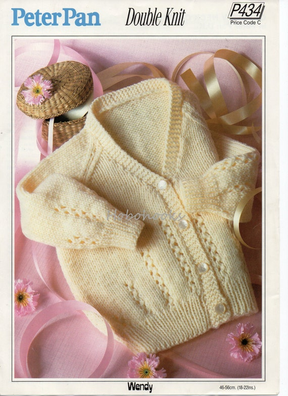size 18-22 inch pdf Baby toddler jacket with a cable front  in super bulky wool knitting pattern digital download