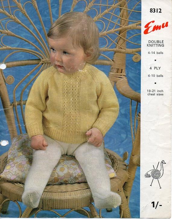f2af3a147147 baby DK   4ply sweater leggings knitting pattern PDF pattern