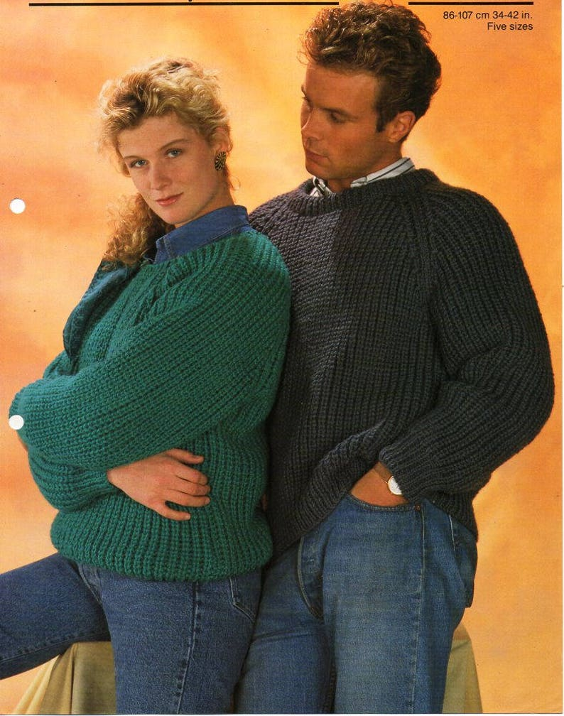 206f550c2 Womens   mens fishermans rib sweater knitting pattern pdf