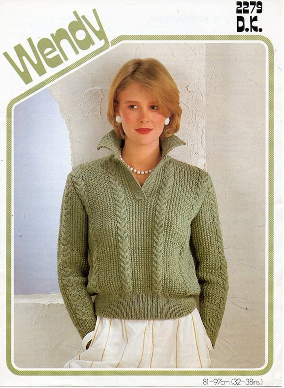 Ladies Knitting Pattern Pdf Download Ladies Sweater Knitting Etsy