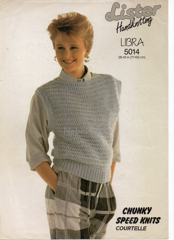 """Knitting Pattern For A Ladies Lacy Jumper Boat Neckline DK size 32//42/"""""""