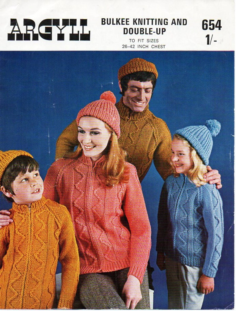 c0585151827 Womens mens childrens aran cardigan hat set knitting pattern