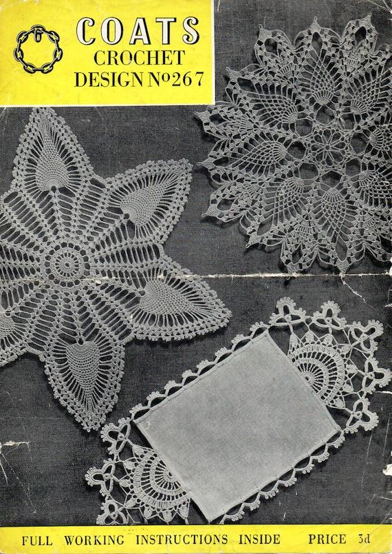 Vintage Crochet Pineapple Doily Pattern Crochet Pattern Pdf Etsy