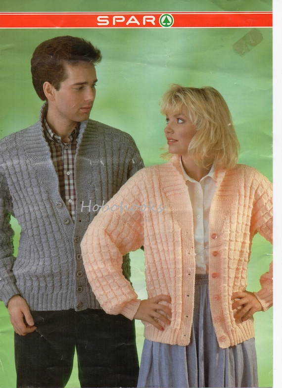 Womens Mens Cardigan Knitting Pattern Pdf Ladies Shawl Etsy