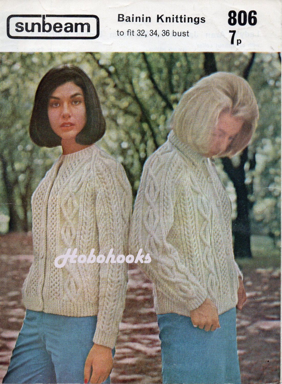 cb99cbec78071 Womens aran cardigans knitting pattern aran jacket with collar