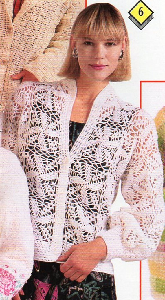 Womens Crochet Cardigan Crochet Pattern Pdf Ladies Crochet Etsy