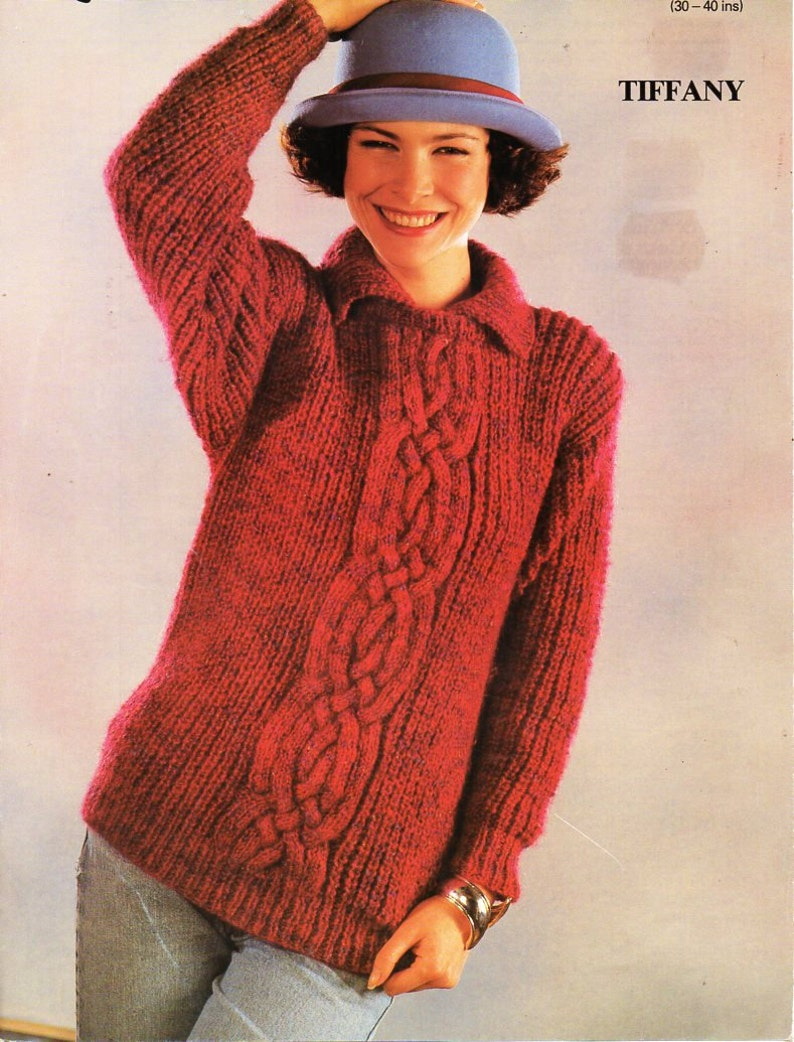 ba3b2760f48f8 Womens cable sweater knitting pattern pdf chunky ladies cable