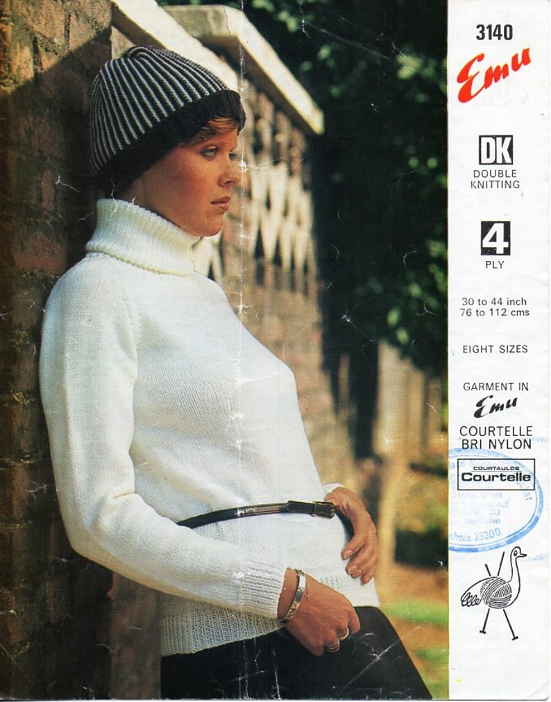 womens 4ply   DK polo neck sweater knitting pattern PDF ladies polo neck  jumper ... womens 4ply   DK polo neck sweater knitting pattern PDF ladies polo  neck ... 0f134310f