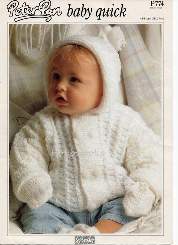 "Baby Set Sweater Trousers Beret Scarf /& Mittens DK Knitting Pattern 17/"" 22/"""