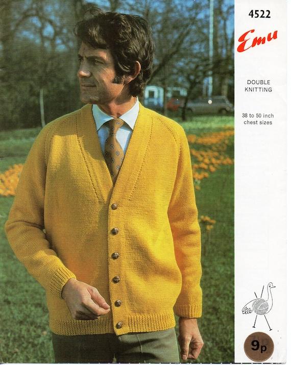 Mens Knitting Pattern Mens Cardigan Mens Raglan Cardigan Mens Etsy