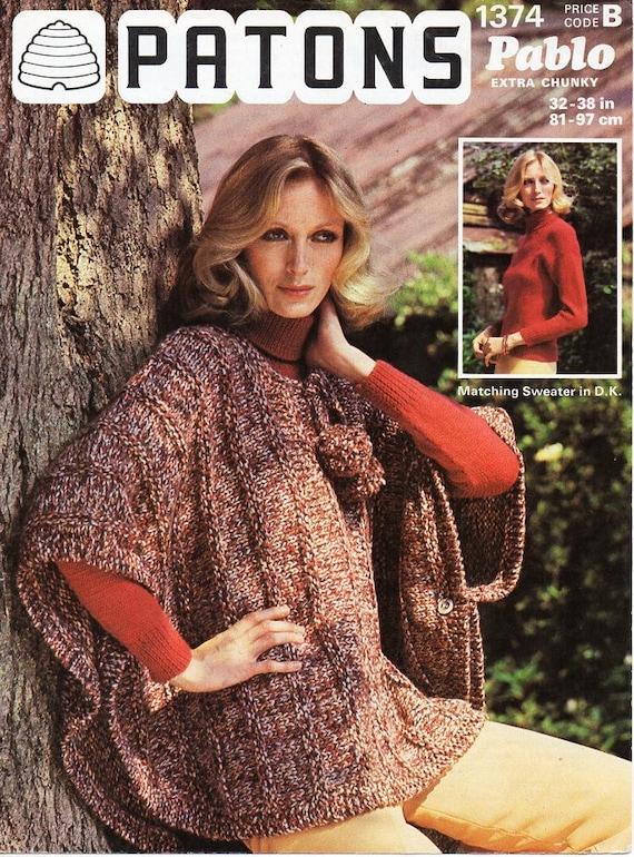 dff1e8d5bd8 Womens poncho sweater knitting pattern pdf womens super chunky