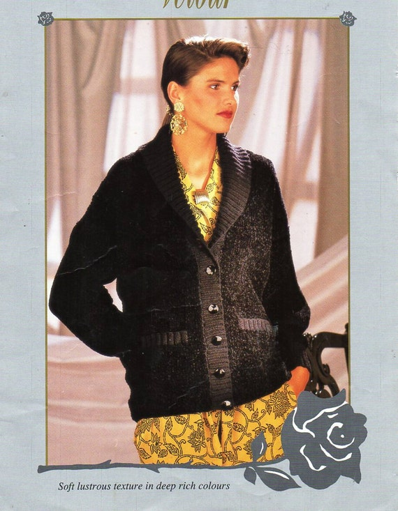 Womens Jacket Knitting Pattern Pdf Download Ladies Cardigan Etsy