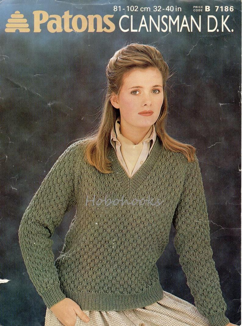 624a030cb823 Womens lacy sweater knitting pattern pdf ladies v neck lace
