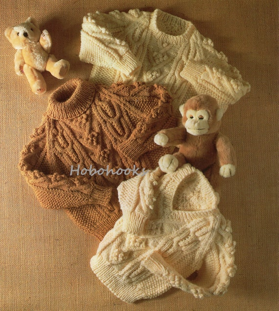 000a2bc69 Baby childrens aran sweater knitting pattern pdf cable jumper