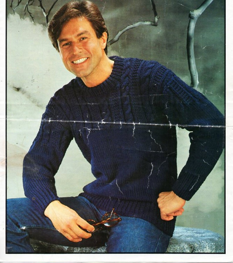 a0f5e59c8a5f Mens Guernsey sweater knitting pattern pdf mens cable jumper