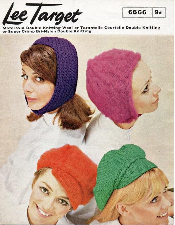 c4a6cf0c5af Vintage womens hat knitting pattern pdf helmet newsboy hat