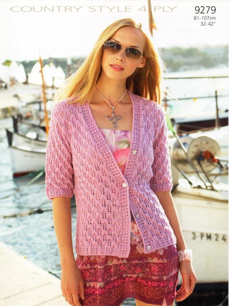 Womens cardigan knitting pattern lacy cardigan short ...