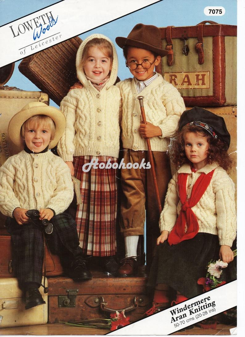 68beb6473 Baby   childrens aran cardigans knitting pattern 20-28 inch