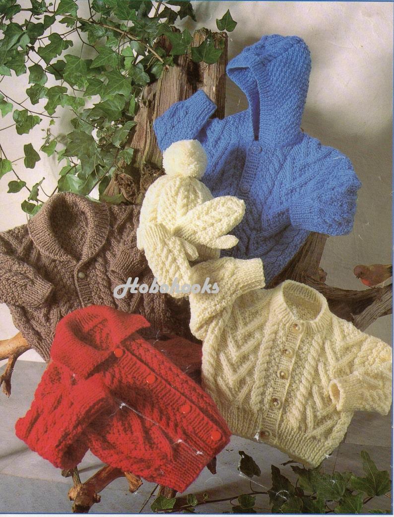 89fd41313cee Baby toddler childrens aran cardigan knitting pattern pdf