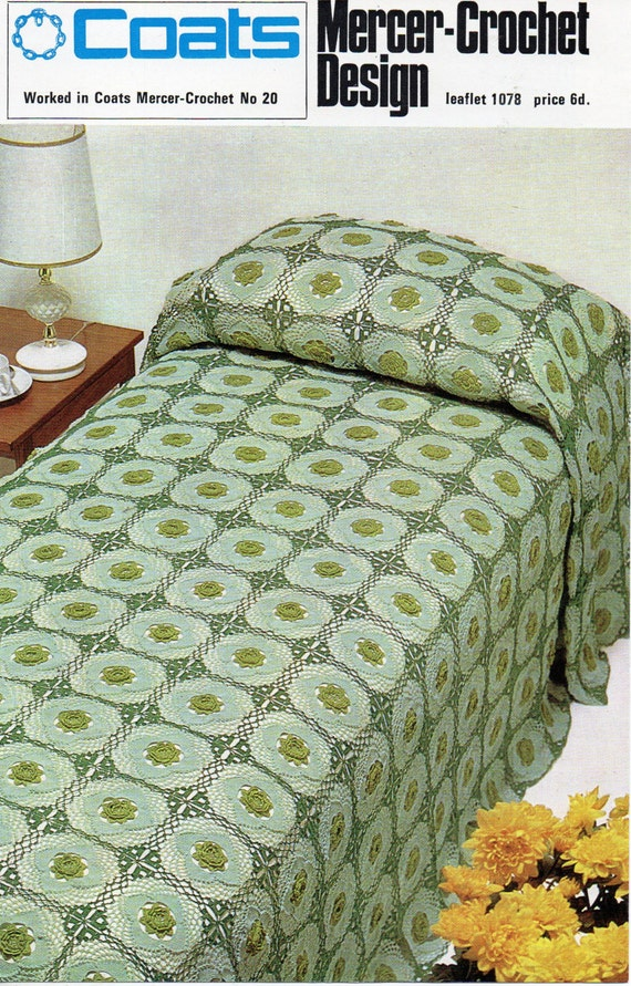 Crochet Bedspread Pattern Crochet Pattern Pdf Crochet Flower Etsy