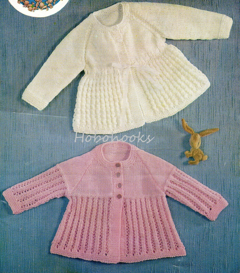 cd56de7339e0 Vintage baby matinee coat knitting pattern PDF baby matinee