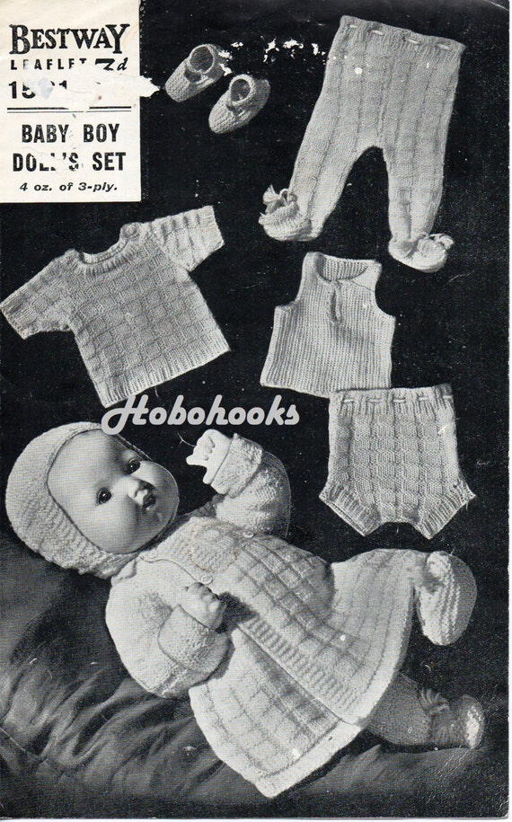 Baby Dolls Knitting Pattern Vest Pants Sweater Leggings Etsy