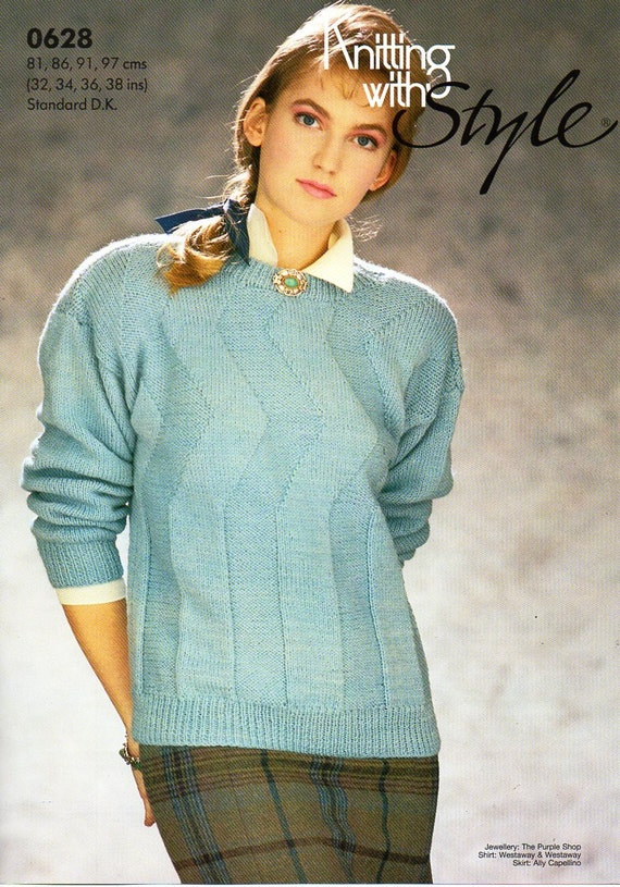 3d9f4e29a3eff womens sweater knitting pattern pdf ladies jumper round neck