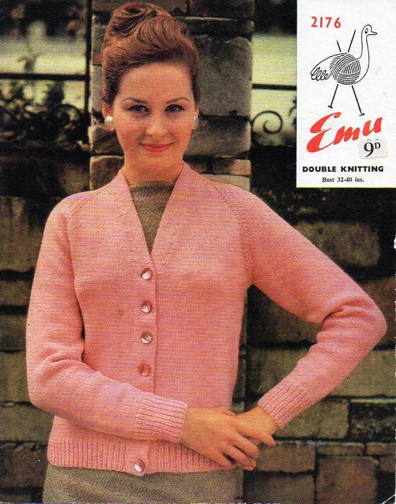 womens DK classic cardigan knitting pattern pdf womens jacket | Etsy
