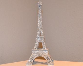 GLITTER EIFFEL TOWER. Parisians Theme Decor. Paris Wedding Decor. French inspired centerpiece. Sparkling Eiffel Tower.