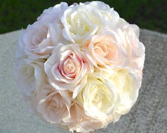 Pantone Flower Ball WEDDING CENTERPIECE. Pantone Pomander. Pantone Flower Girl Bouquet. Pantone Bridesmaid Bouquet. Pantone Kissing Ball.