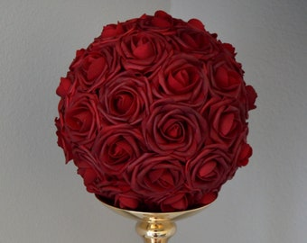 Red Rose Centerpiece Etsy