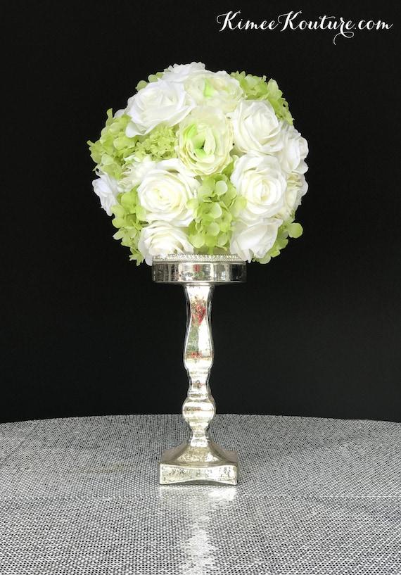 Rose Hydrangea & Peony Wedding Centerpiece Flower Ball. | Etsy