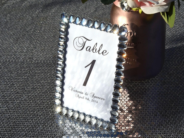 Hochzeit Tischnummern. Crystal-Rahmen mit Tischnummer. Strass | Etsy