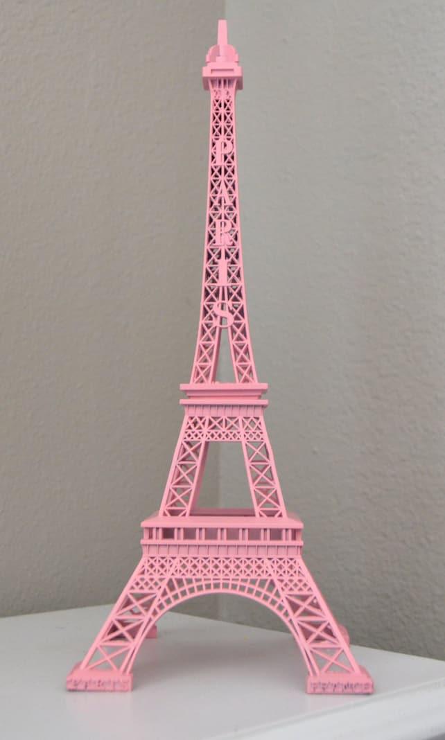 Pink Eiffel Tower Centerpiece Parisians Theme Decor Paris Wedding
