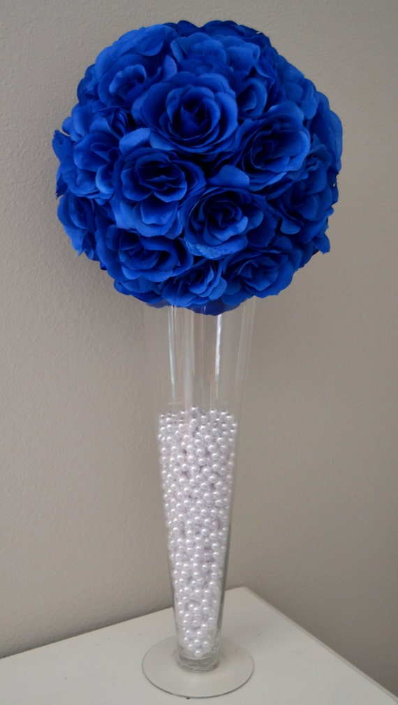 Royal Blue Flower Ball Wedding Centerpiece Wedding Decor Etsy