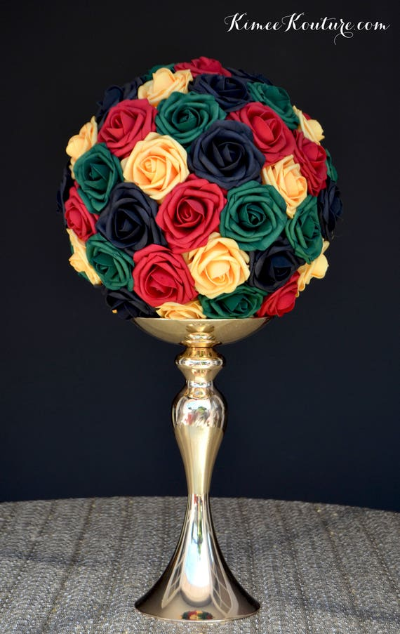 Reggae Kissing Ball Wedding Centerpiece Pomander Kissing Etsy