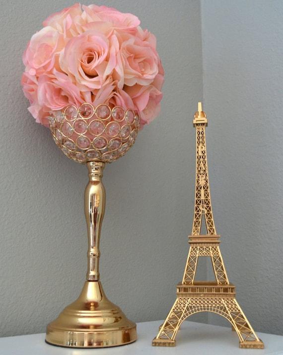 Gold Eiffel Tower Centerpiece Parisians Theme Decor Paris Etsy