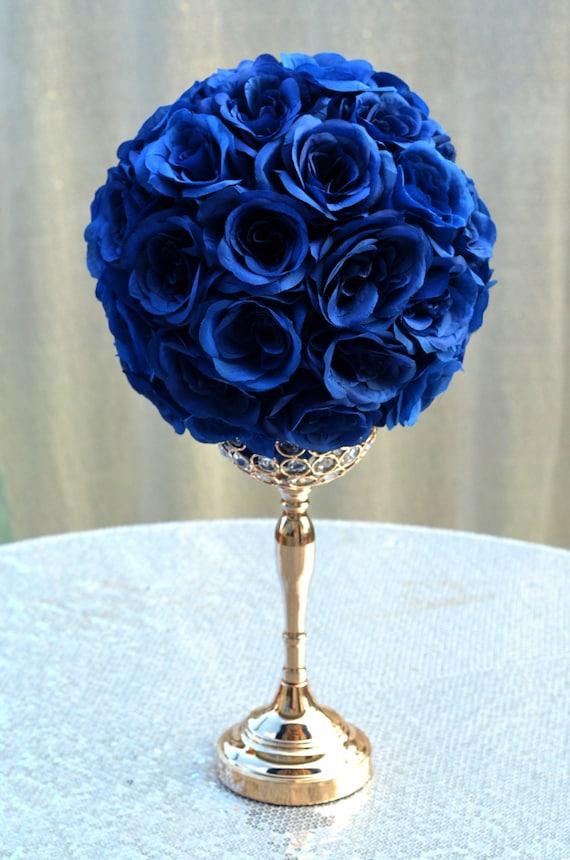NAVY BLUE flower ball Navy Blue Wedding Centerpiece Navy   Etsy
