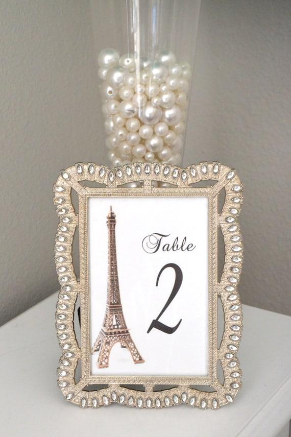 Eiffel Tower Table Number Parisians Theme Decor Paris Etsy