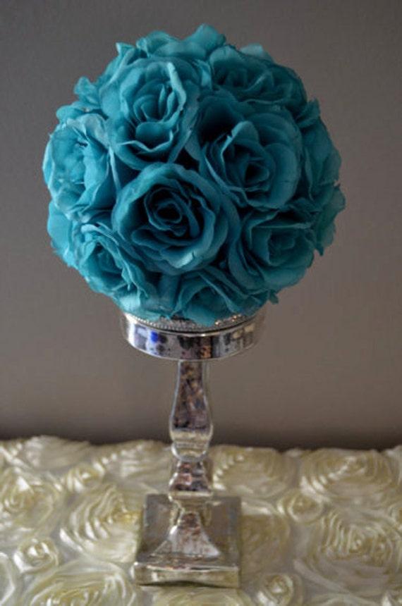 Teal / Jade flower balls WEDDING CENTERPIECE wedding | Etsy