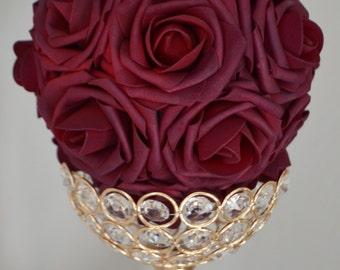 SANGRIA Kissing Ball, WEDDING CENTERPIECE, Pomander, Kissing Ball, Luxury Wedding/Bridal Shower , flower girl