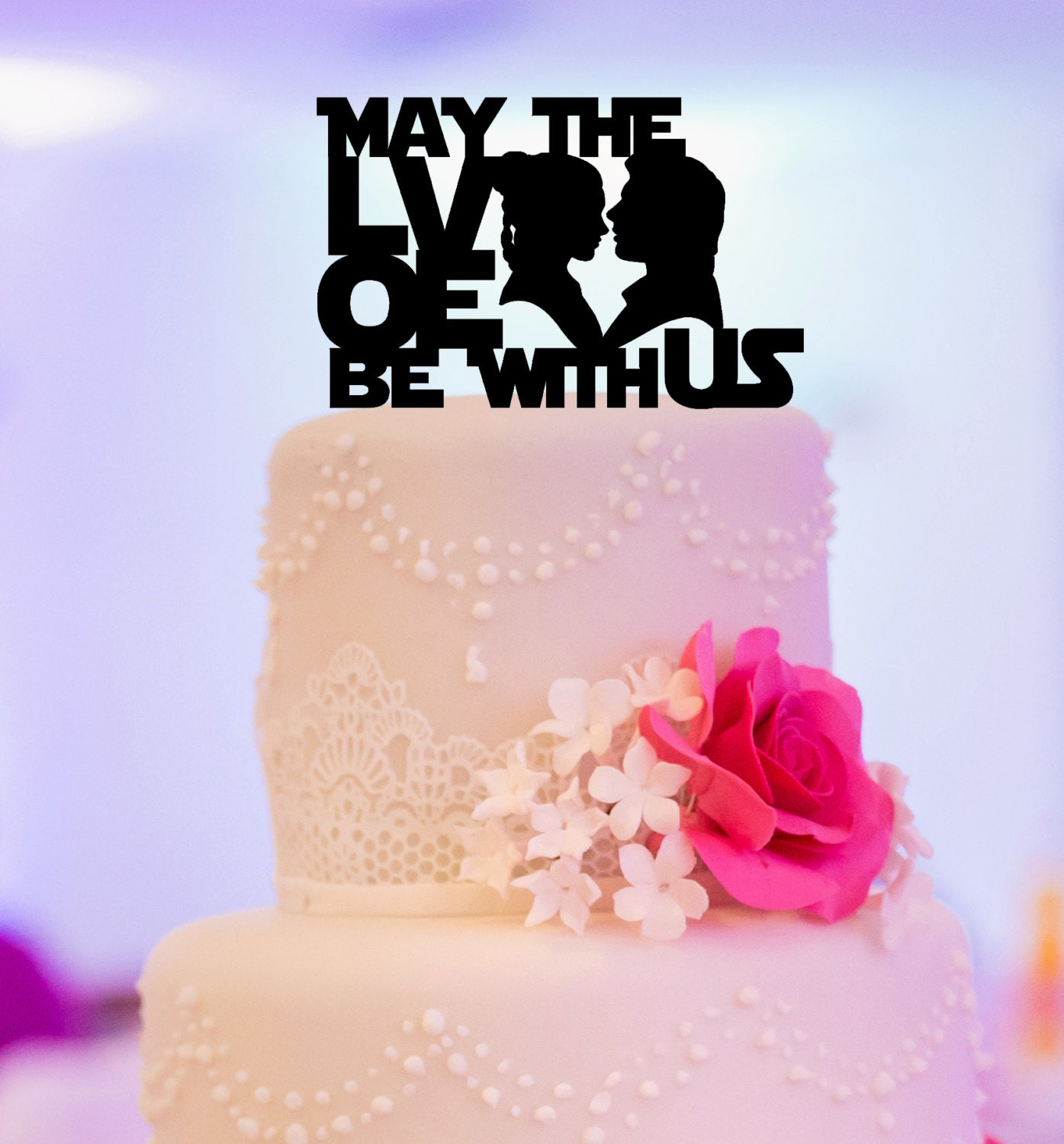 Star Wars Inspired Wedding Cake Topper. May the love be with | Etsy