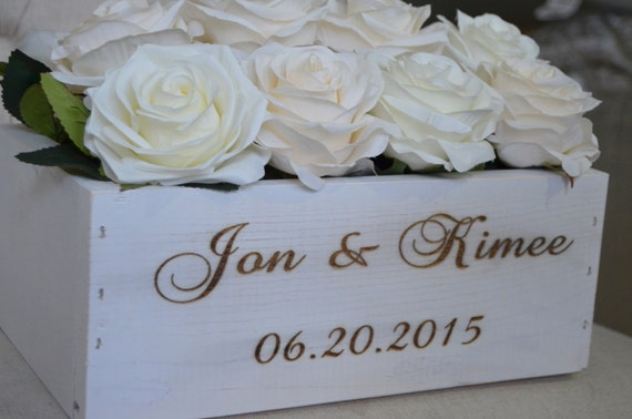 Shabby Chic Colors For 2015 : Shabby chic wedding centerpiece. personalized & engraved with etsy