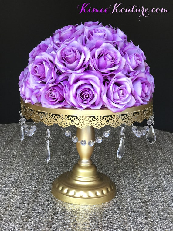 Purple ombre wedding centerpiece and lavender floral