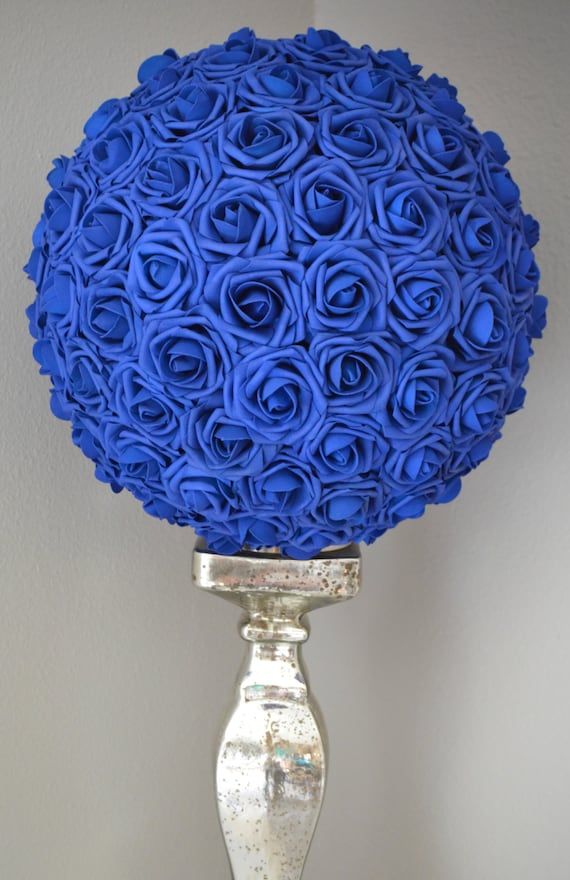 Royal Blue Flower Ball Wedding Centerpiece Royal Blue Etsy