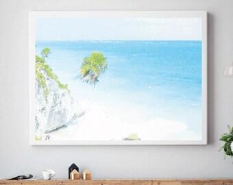 Beach Wall Art, Ocean Art, Ocean Wall Art, Ocean Photography Print, Ocean Print,water colours, Ocean Art Print , Ocean Art, SUMMER 2017